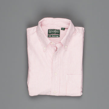 Gitman Vintage oxford button down shirt Old Pink stripe