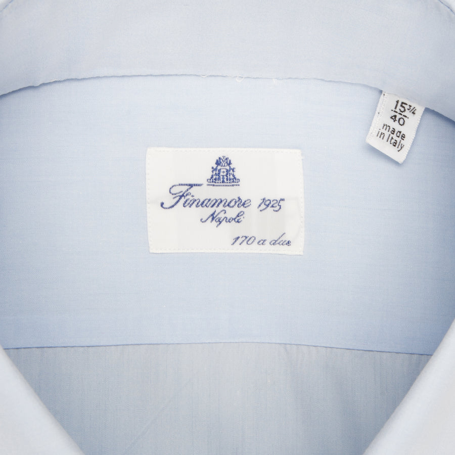 Finamore Milano shirt Collar Sergio GIZA 45 light blue poplin