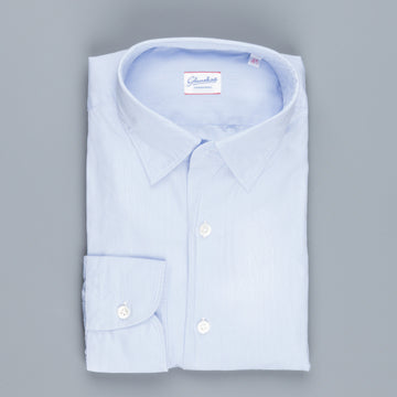 Glanshirt Kurt Poplin Light Blue Hairline