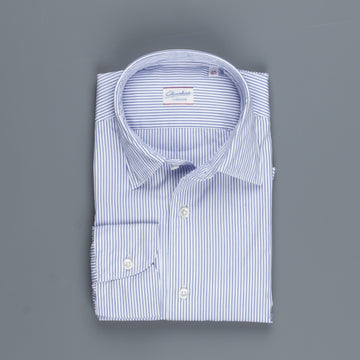 Glanshirt Kurt Poplin Navy Pencil Stripe