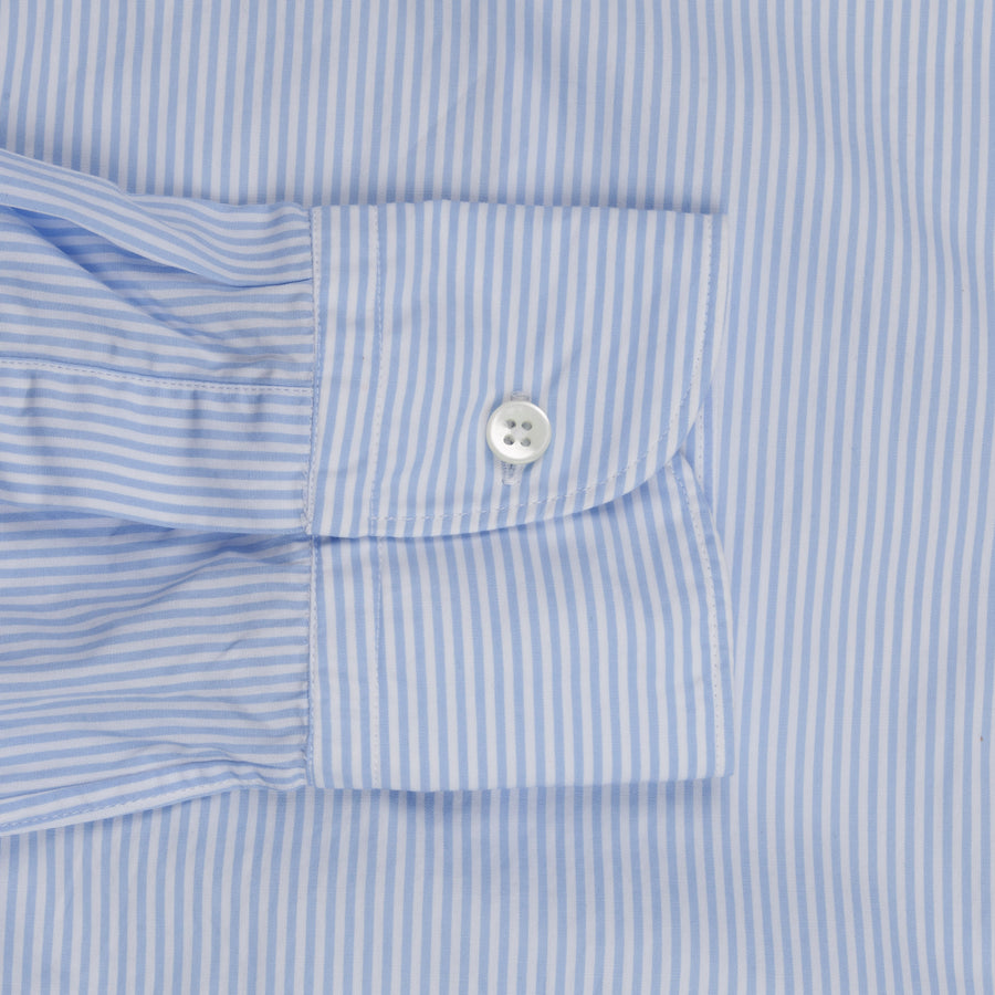 Glanshirt Kurt Light Blue Stripe