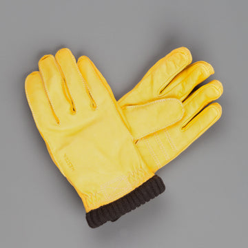 Hestra Primaloft Rib in Deerskin Natural Yellow