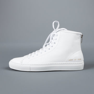 Common Projects Woman by Common Projects Tournament high in leather white