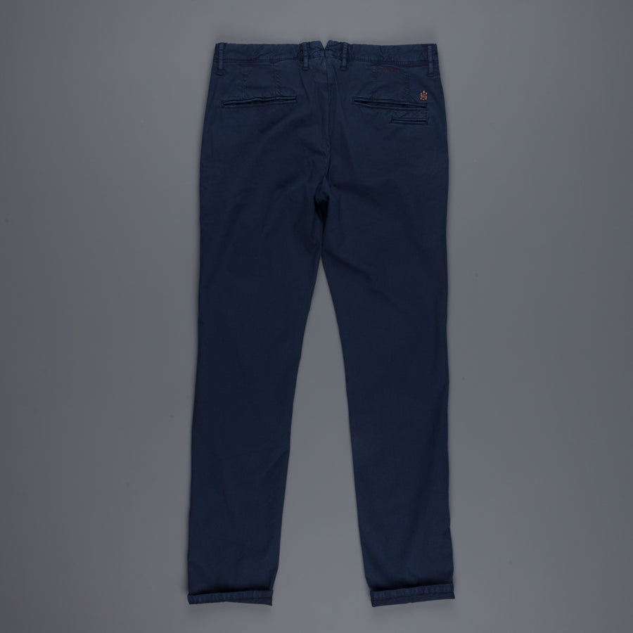 Incotex Slacks 1st619X Stretch Chino Piquet Blu Scuro