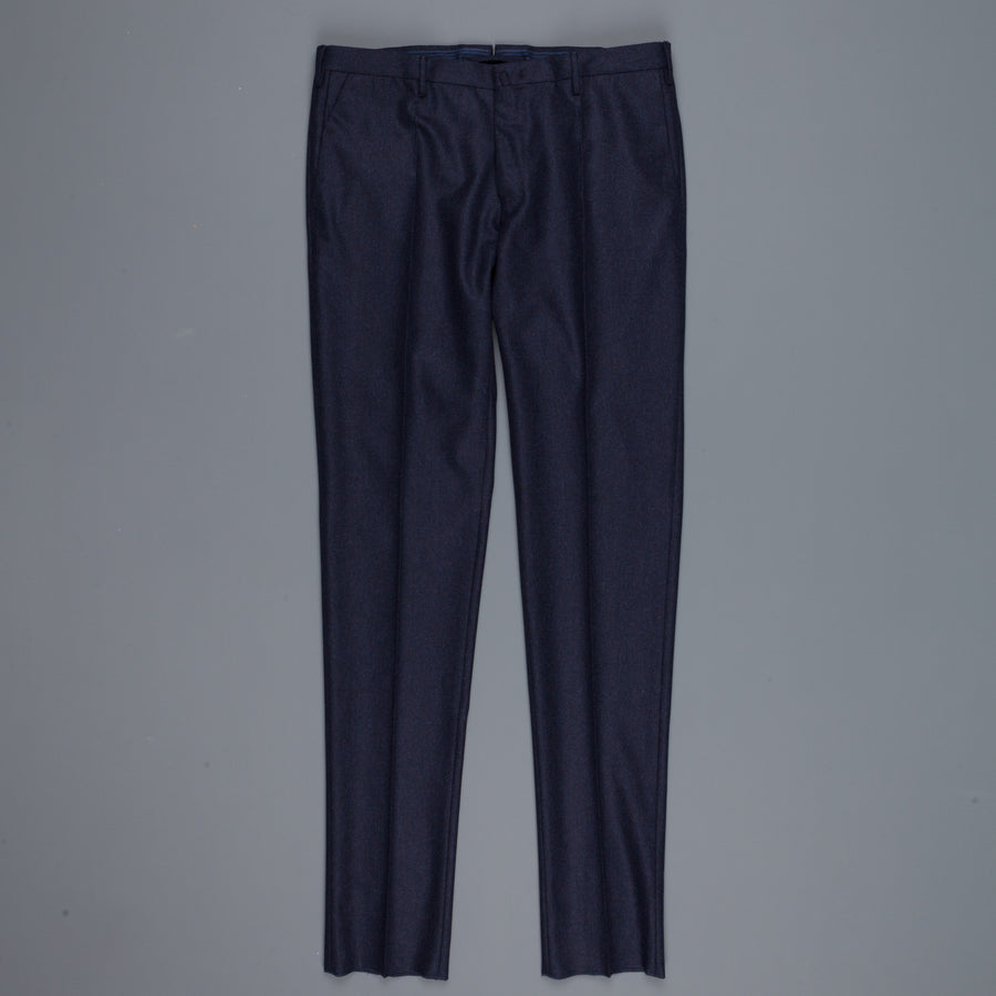 Incotex Venezia model 046 Bridge fit flannel pants navy