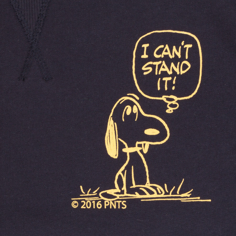 Tsptr Snoopy I can't stand it sweater Navy
