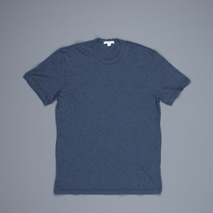 James Perse Heathered cotton tee crew neck Indigo