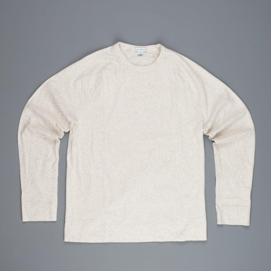 James Perse Suede Jersey Raglan heather natural