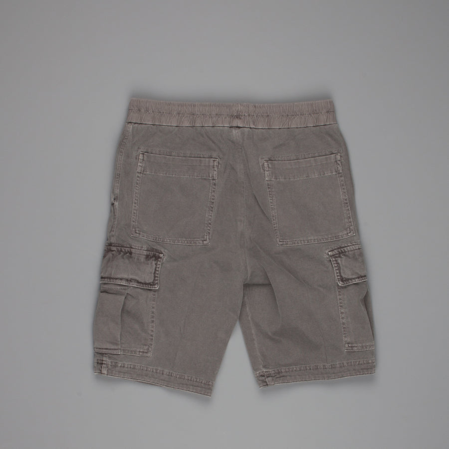 James Perse Heavy cotton jersey cargo short iron pigment