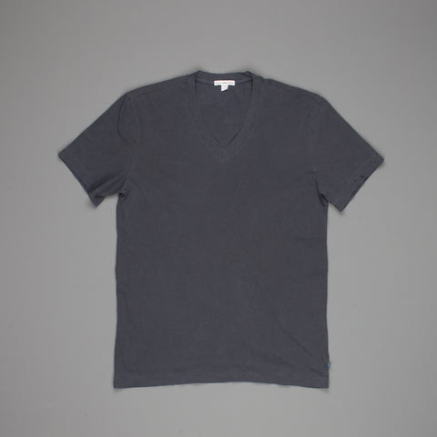 James Perse short sleeve V-neck Blue dove pigment