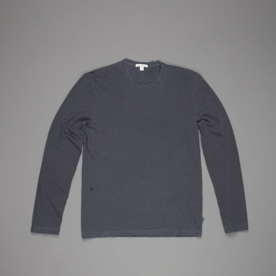 James Perse Longsleeve  crewneck Blue dove pigment