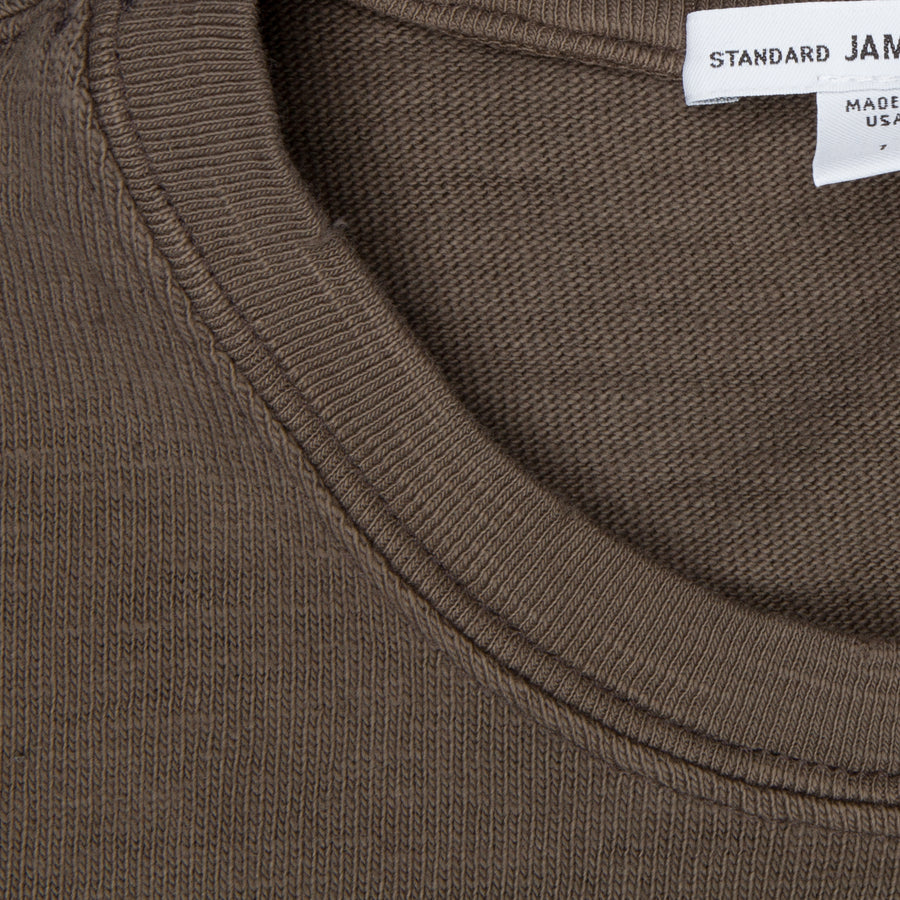 James Perse Vintage Jersey Pullover army green