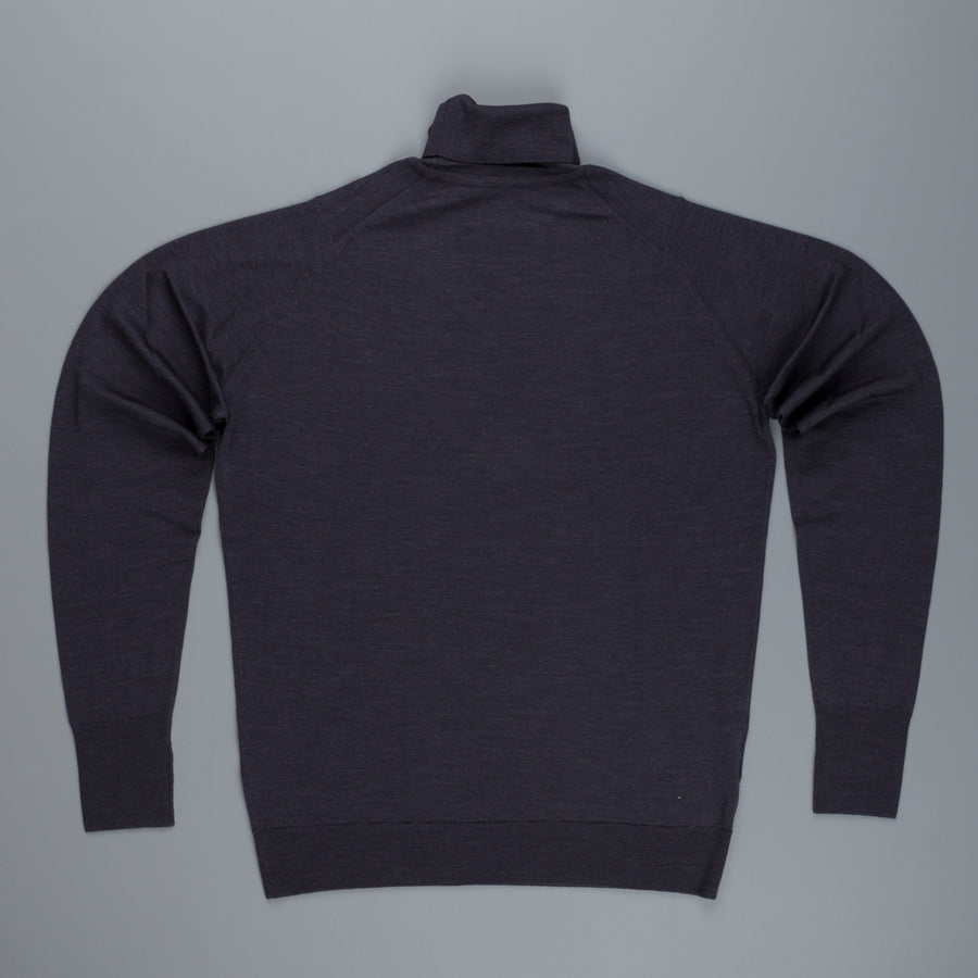 John Smedley Richards Turtleneck in Hepburn Smoke