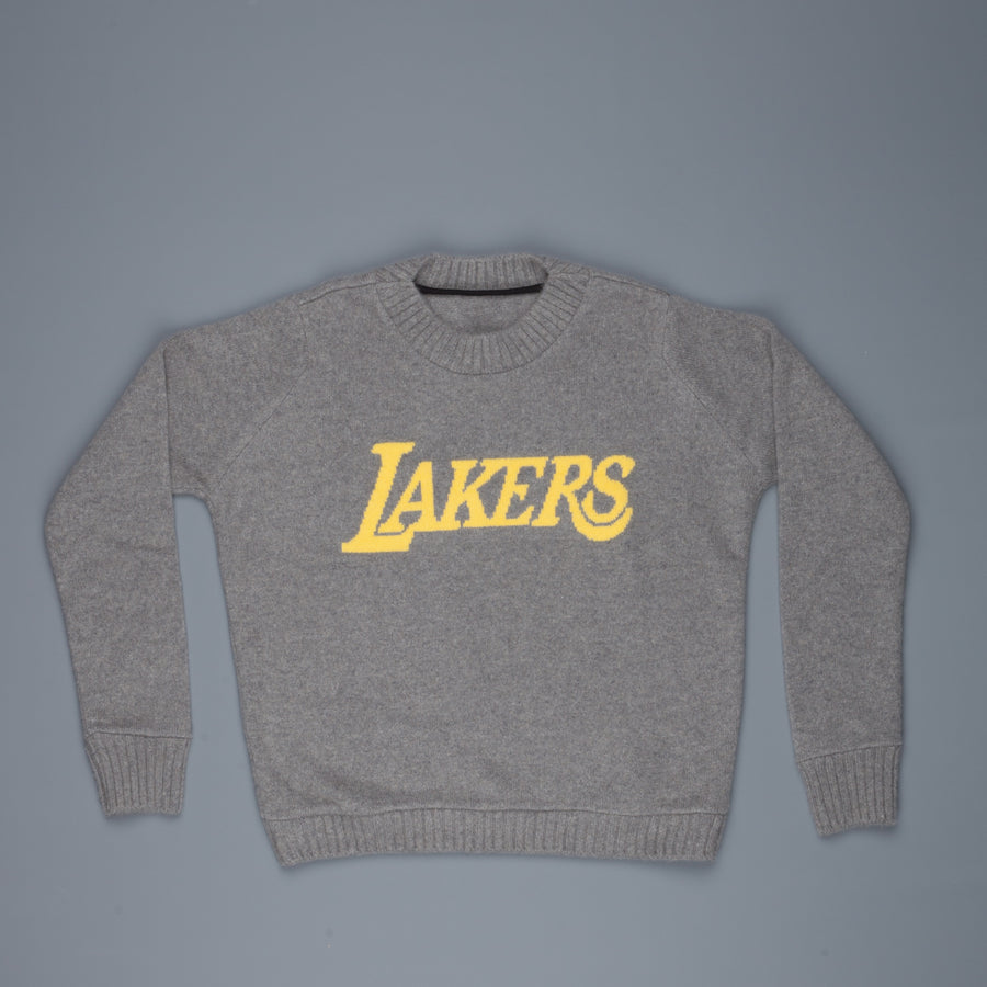 The Elder Statesman NBA sweater  LA lakers medium grey yellow