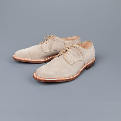 Alden x Frans Boone Exclusive Unlined Milkshake Suede Plain Toe Blucher