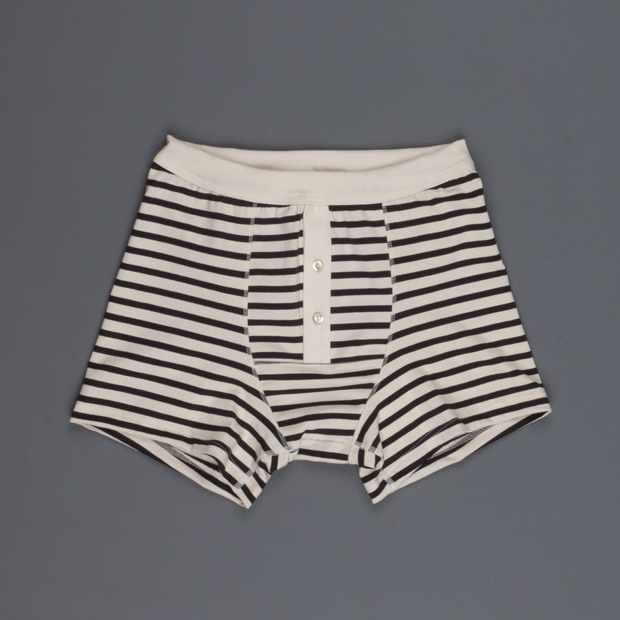 Merz B Schwanen 2M55 button facing underpants nature/charcoal striped