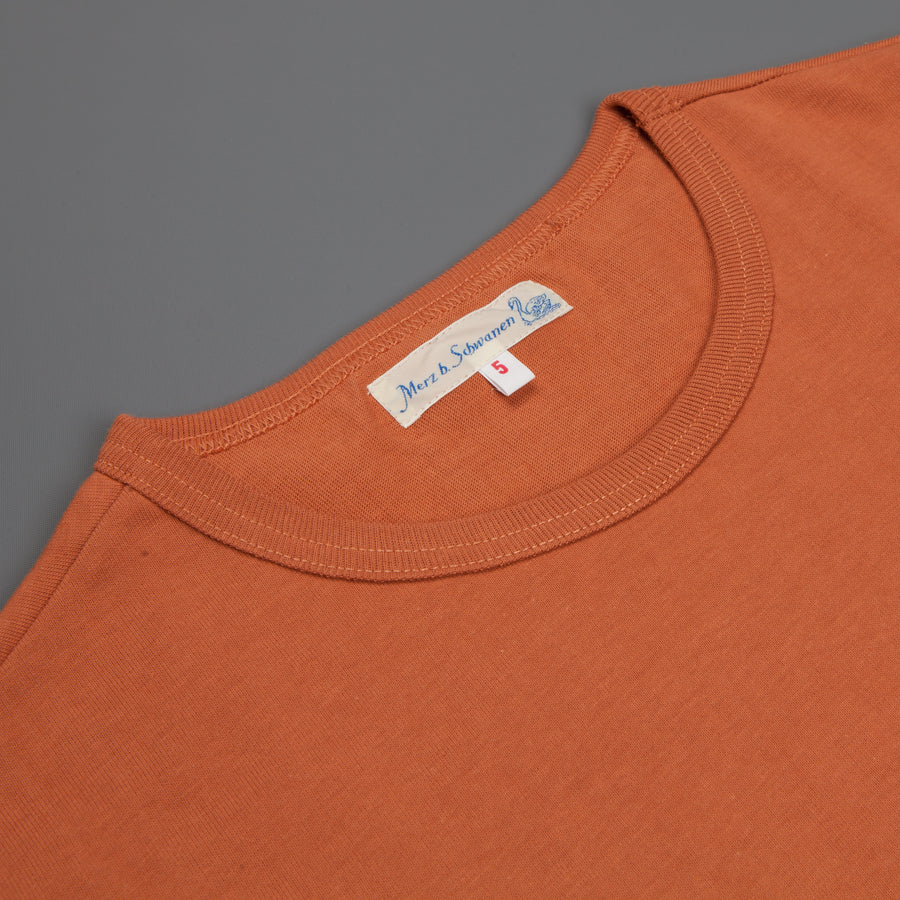 Merz B Schwanen 215 crew neck tee 2 thread Light Rust