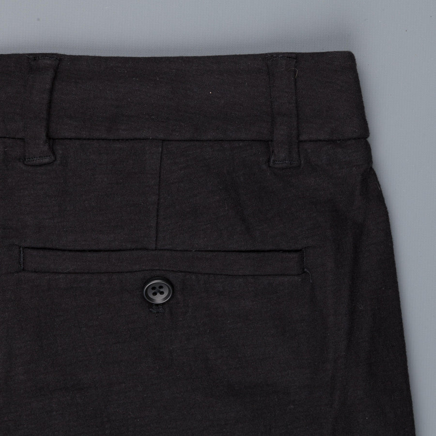 James Perse Stretch textured jersey pants black