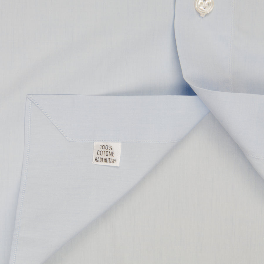 Finamore Napoli shirt Collar Eduardo GIZA 45 light blue