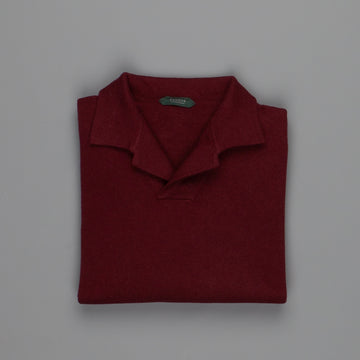 Zanone ML Polo Without Buttons Burgundy
