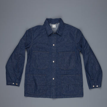Orslow one wash denim utility jacket