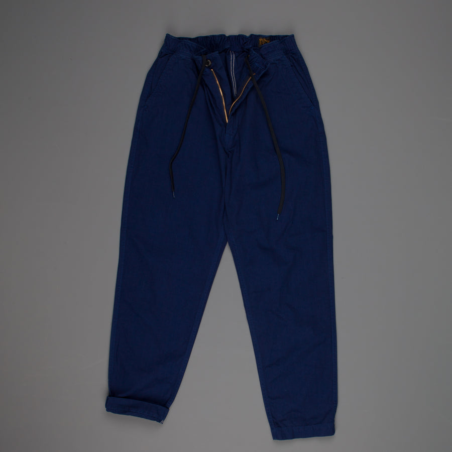 orSlow Easy Pants Herringbone Twill Blue Frans Boone Store Exclusive