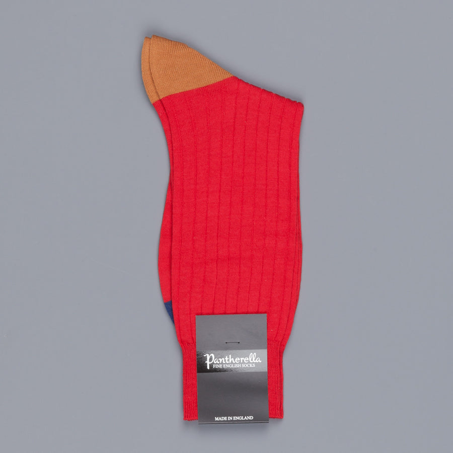 Pantherella Stratford merino wool socks indies red
