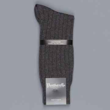 Pantherella Cashmere Waddington Socks Charcoal