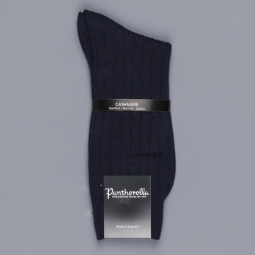 Pantherella Cashmere Waddington Socks Navy