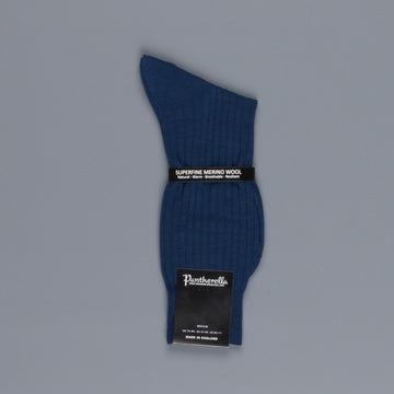 Pantherella Laburnum merino wool ankle high socks Dark Blue