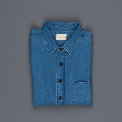 Simon Miller M100 Pioche shirt linen light indigo