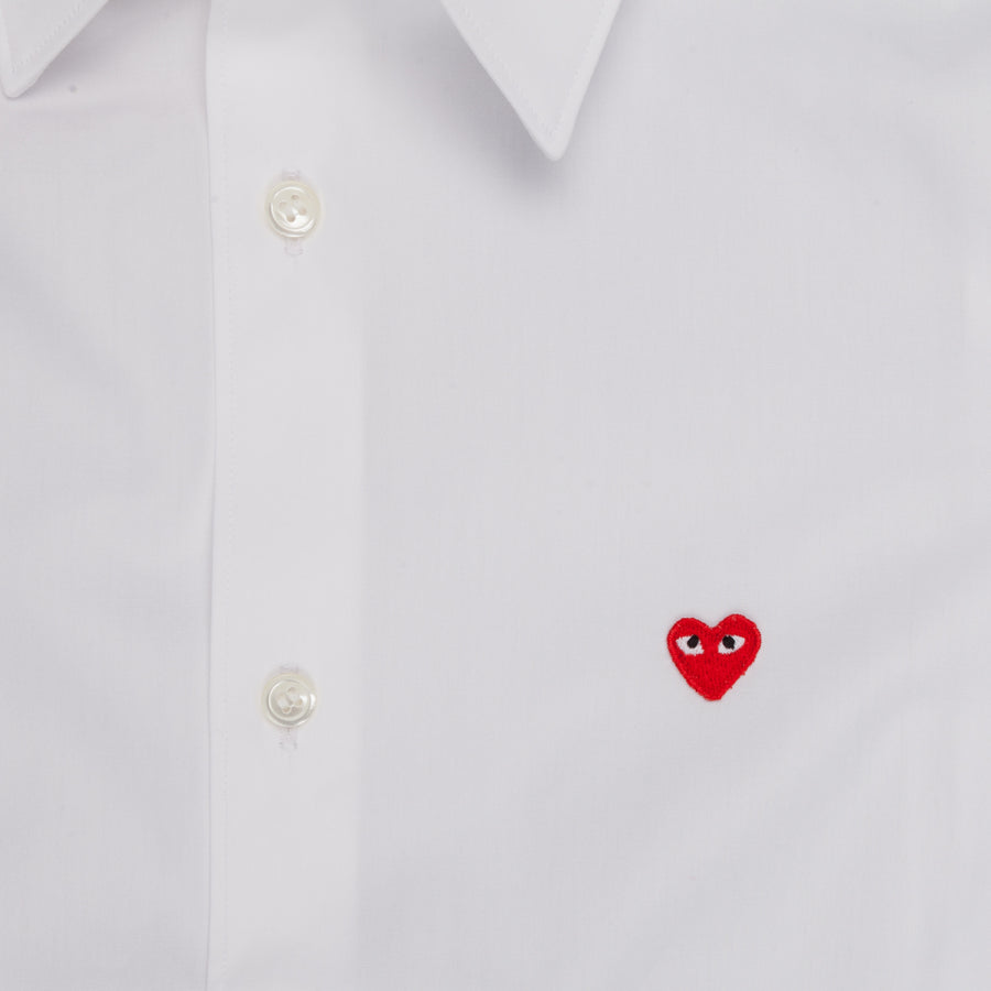 Play Comme des Garçons white shirt small red heart