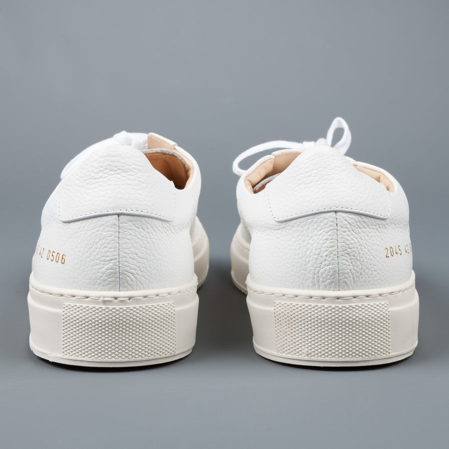 Common Projects Achilles Premium Low White Sawtooth sole