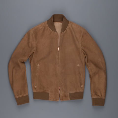President´s Unlined Suede Bomber Tobacco