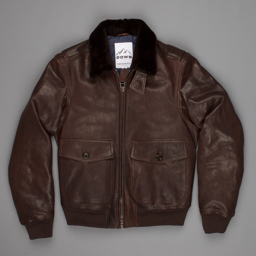 President's Goat leather G-1 coat down filled