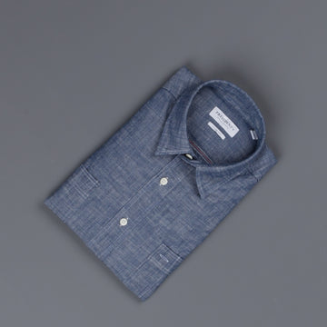 President's Shirt Japanese Selvedge Chambray indigo
