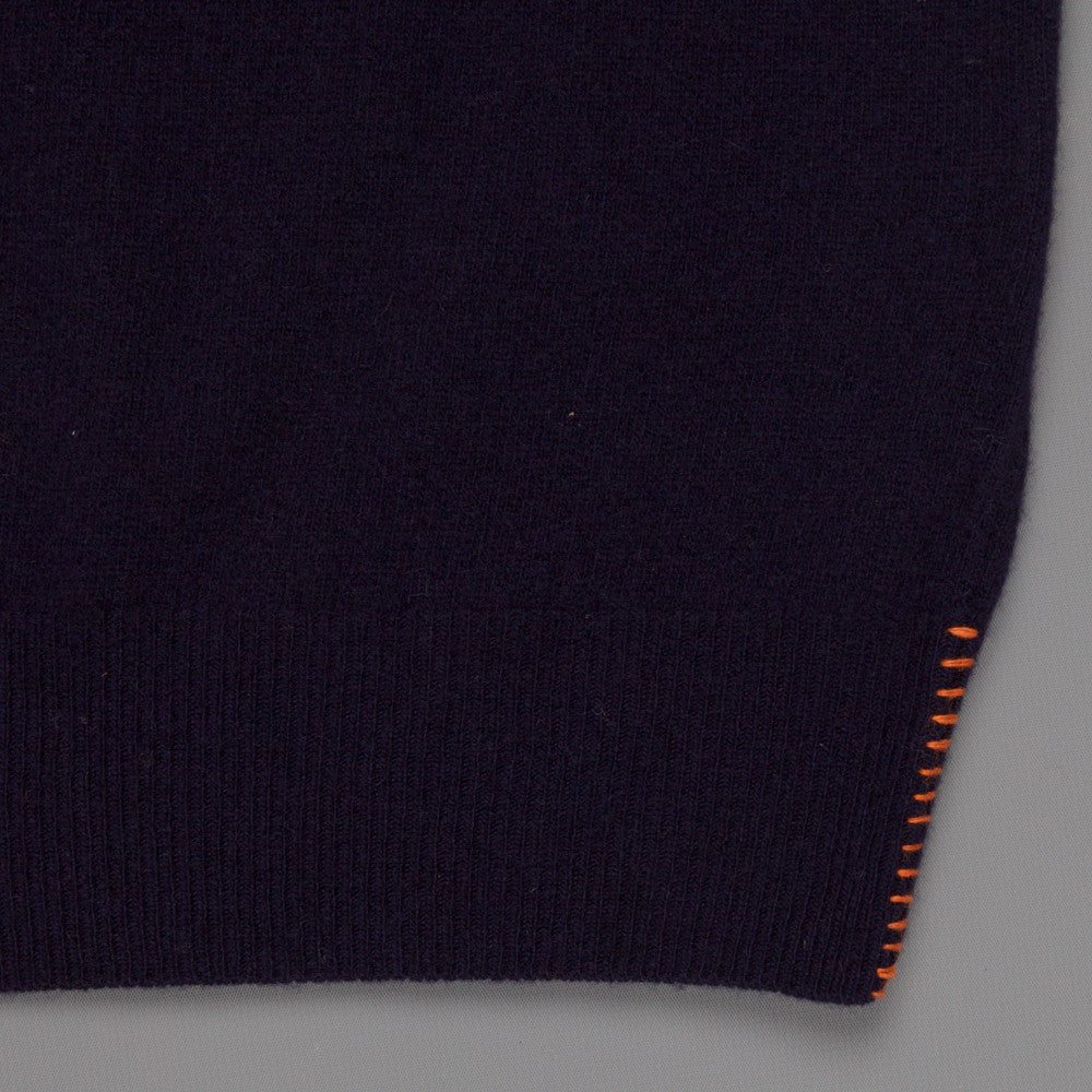 President's turtle neck washed wool Blue
