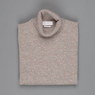 President's turtle neck washed wool Brown
