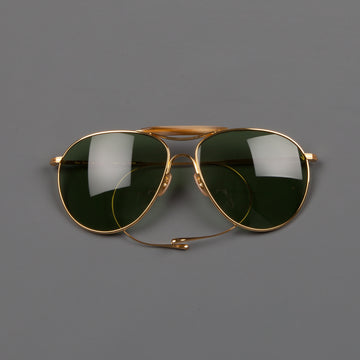 The Real McCoys Aviator Flying sunglasses gold