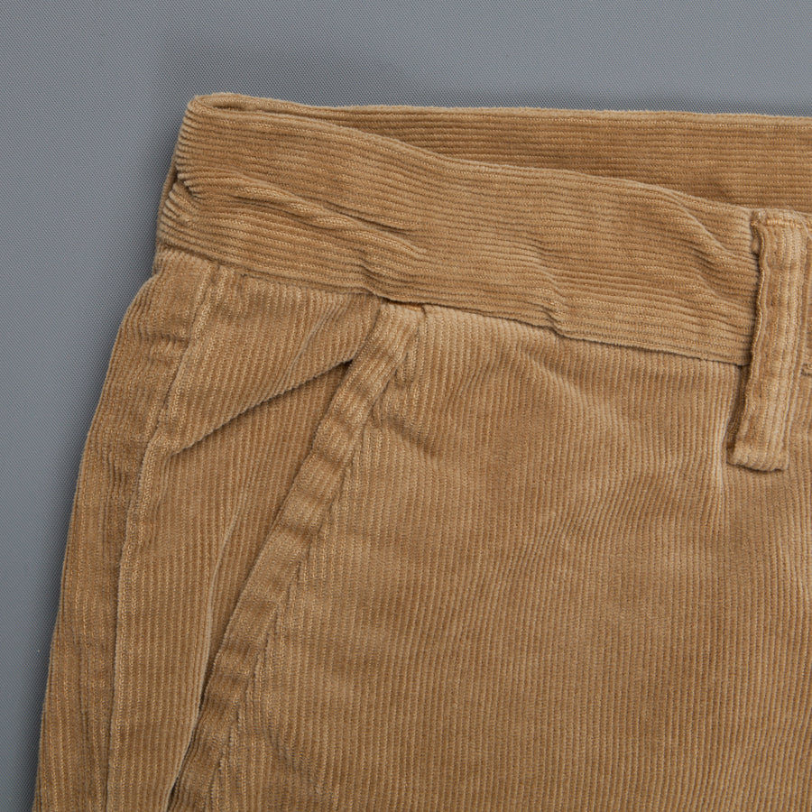 Remi Relief Stretch Corduroy Cropped Pants Beige