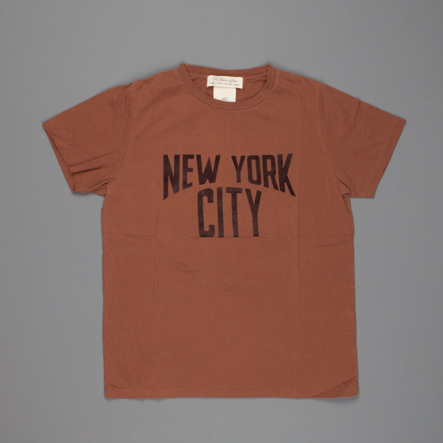 Remi Relief Long Wash Finish T-Shirt NYC Brown