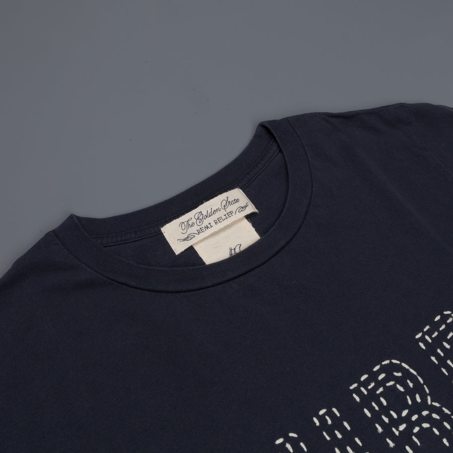 Remi Relief Long Wash Finish T-shirt Surf Is navy