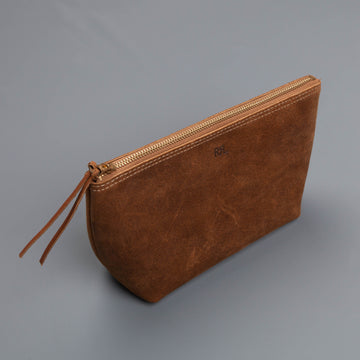 RRL LG Gusset pouch suede