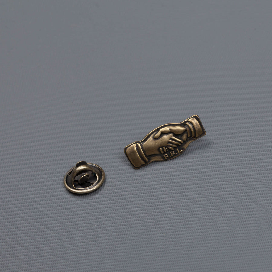 RRL handshake pin enameled brass
