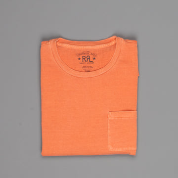 RRL Pocket Tee Short Sleeve Faded Orange