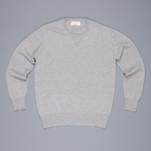 Scott and Charters x Frans Boone crew neck cashmere cotton Brume