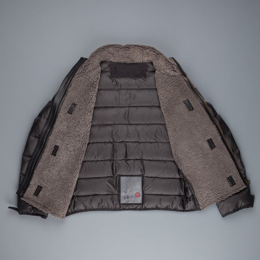 Ten C Shearling Liner Dark Grey