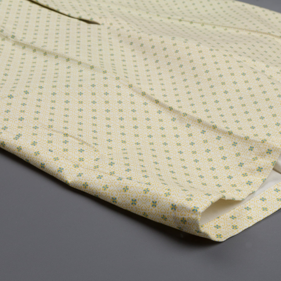 Finamore Bermuda Florida soft yellow/green patterned