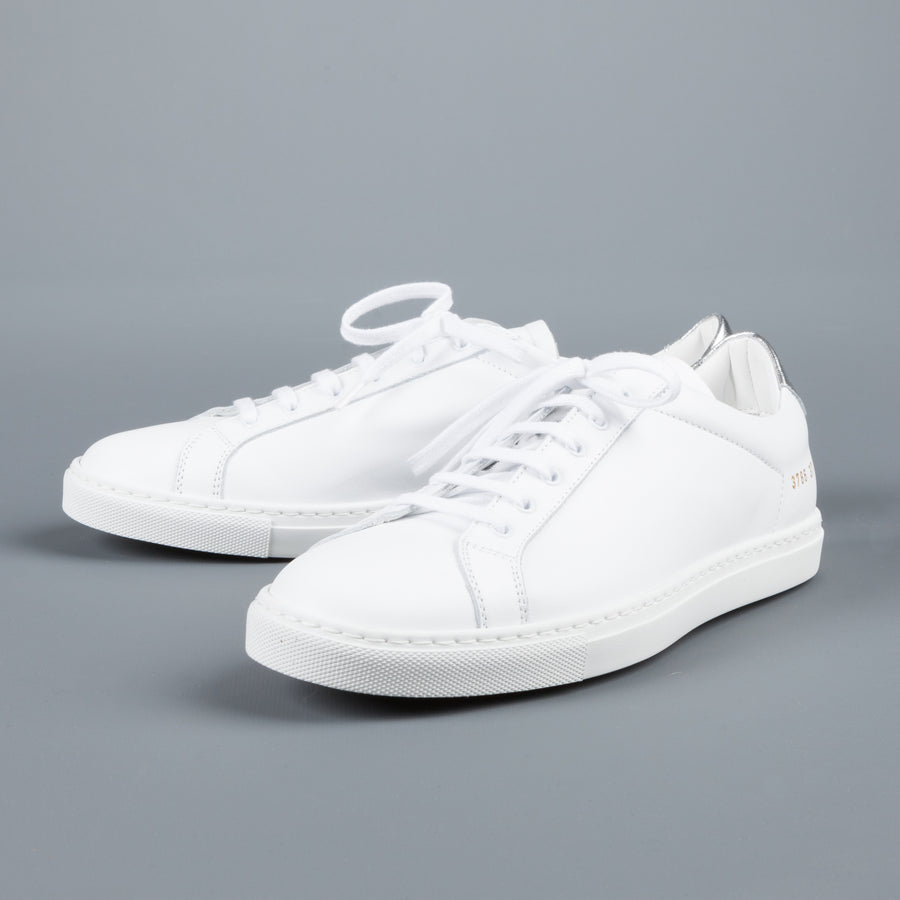 Common Projects Woman by Common Projects Achilles retro low white silver