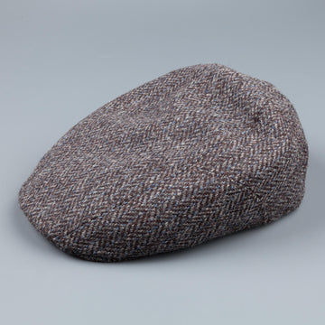 Stetson Ivy cap in harris tweed herringbone
